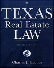 NEW - Texas Real Estate Law by Jacobus, Charles J.