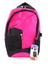Boruidi Rucksack Pink Schwarz  Laptopfach Schulrucksack Freizeit Schule