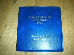 gb coins 50 pence collection 1969-1983