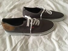 Nwob Mens Gray Canvas Levis Shoes Size 95 Gray UK Official Store
