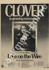 Clover Love On the Wire Oxford New Theatre LP Tour Advert 1977
