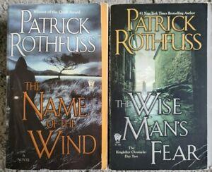 PATRICK ROTHFUSS KINGKILLER CHRONICLE #1, 2 PAPERBACK 2 BOOK LOT FANTASY NOVELS