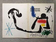 "Joan MIRO - Five (5) Original Lithographs from ""Derriere Le Miroir"" (1963)"