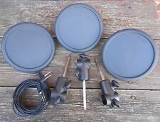 Three (3) Yamaha TP65 Electronic Drum Pads with Pad Mount & Cable TP-65 EC