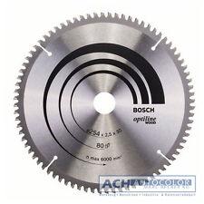 BOSCH Aluminium Lame de scie 254mm 60 TR-f pour scie circulaire à table GTS 10 J