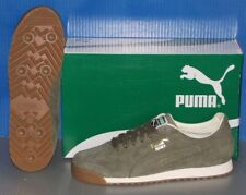 MENS PUMA ROMA DISTRESSED NBK in colors BURNT OLIVE / WHITE SIZE 11