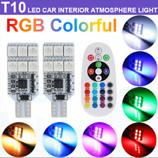 2X T10 194 168 LED RGB Multi-Color Wedge Interior Map Dome Cargo Courtesy Lights