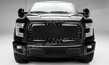 15-17 Ford F150 Truck Gloss Black Front Hood Rivet+Mesh Grille+Replacement Shell