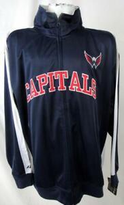 Washington Capitals Big Mens 2XL 4XL or 2XT Full Zip Track Jacket ACAP 61