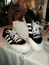 Adidas Men's Matchcourt  3-Stripes Skateboarding Shoe Black/White Sz 10 Canvas
