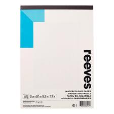 1x a4 Reeves Acquarelli ARTE Pad 190gsm 12 Fogli-Acquerello carta Pad-Studente