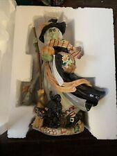 New ListingRetired Fitz & Floyd Halloween Harvest Witch with Black Cat Figurine Decoration