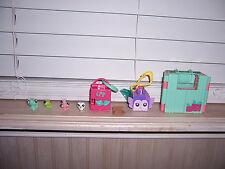 Littlest Pet Shop Teeniest Tiniest Lot Butterfly Owl Caterpillar Playsets LPS E