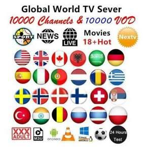 IP'TV 1 year subscription (STB ✔️ FireStick✔️M3U✔️SMART TV✔️ANDROID✔️MAG✔️4K)