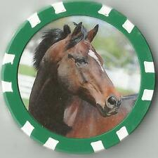 **CIGAR**  #18 IN TOP 100 RACE HORSES  HORSE RACING  COLLECTOR CHIP
