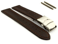 Genuine Leather Watch Strap Band Freiburg Deployment Clasp 18 20 22 24 26 MM