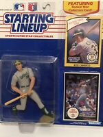 1990 Jose Canseco Starting Lineup figure Card toy Oakland A's W/ Rookie Baseball