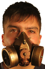 s TrYptiX Steampunk Gas Mask Dual Cartridge Spikes W/ Chain respirator