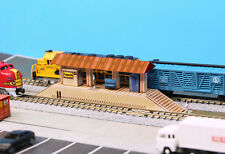 N Scale Passenger Platform Station Building DIY Cardstock Kit