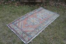"""Vintage Handmade Turkish Oushak  Runner Rug Carpet 64""""x38"""", 163x96cm"""