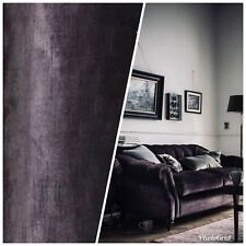 Designer Antique Inspired Velvet Fabric - Midnight Plum - Upholstery