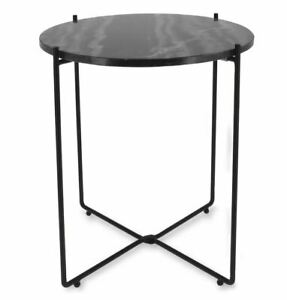 Fairmont Cephas Side Table, Metal Marble Look