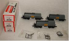 """3x KLEIN Modellbahn 3552 Kesselwagen """"SHELL"""" in OVP!"""