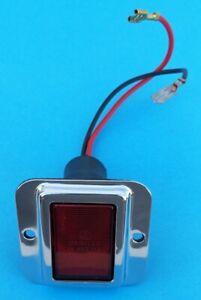 Luce porta rossa cornice rettangolare 2 fori per Ferrari e varie-Door light