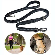 Dog Leash Ajustable Pet Car Safety SeatBelt Bungee Reflective Walking Lead 4-6ft