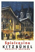 Spielcasino Kitzbühel Blechschild Schild gewölbt Tin Sign 20 x 30 cm F0192-X
