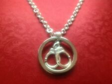 """Day Collar O Ring  Handcuffs Charm Sub Slave Dom 16"""" Necklace Unwanted Gift"""