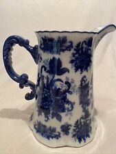 New listing Pretty Blue & White Pitcher Flow blue style Cracker Barrel 80 oz Pitcher Vintage