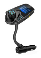 Nulaxy Km18 Wireless In-car Bluetooth Fm Transmitter Radio Adapter Car Kit Black