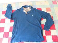 burberry london blue polo shirt long sleeve sz M