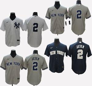 Derek Jeter #2 New York Yankees Cool Base Men's Stitched Jersey