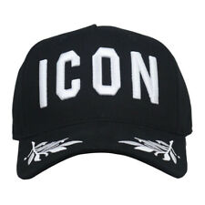 New DSQUARED2 ICON Baseball Black Hat Cotton Adjustable Cap For For Men&Women