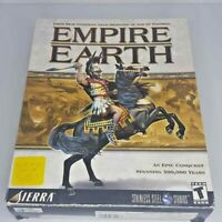 Empire Earth PC CD-ROM Game BIG BOX Complete 2001 Strategy Manual Sierra Key