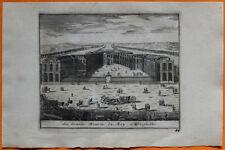 VAN DER AA Gravure originale c1725 VERSAILLES La Grande Écurie du Roi