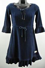 Odd Molly para Mujer Vestido Largo de Manga 3/4 Túnica Cuello Redondo Azul Talla 2