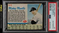 1962 Post Cereal Mickey Mantle #5 PSA Auth (PWCC)