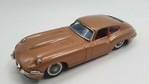 Tin Toy  BANDAI Friction  Gold/Brown JAGUAR XK-E