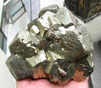 PYRITE BRILLIANT PENTADODECAHEDRAL CRYSTALS on MATRIX from PERU.....MASTER PIECE