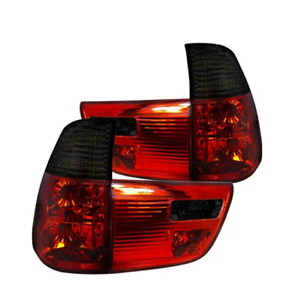 2000-2003 BMW E53 X5 Red Smoked Tail Lights Brake Lamps Left+Right Replacement
