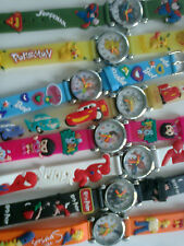 lot  3 montres pokemon  dora superman  simpson