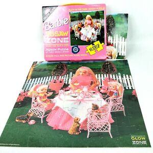 Barbie doll toy puzzle Glow in the dark 60 piece Vintage 1990s