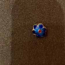 Cloisonne Loose beads - Blue Flowers Made In China