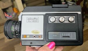 Minolta XL-400 Super 8  Camera Time Lapse like Canon Nizo NEVER USED BOX MANUAL