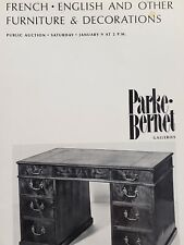 Parke-Bernet Galleries NY Catalog, French English & other Furniture, Jan 9, 1971
