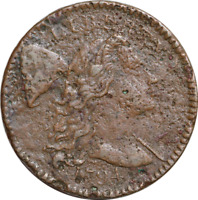1794 S-61 LIBERTY CAP FLOWING HAIR LARGE CENT 1c VF/XF DETAILS (CORROSION) DATE!