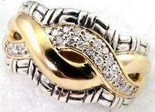 Philip Andre 18K Gold & Sterling Silver 1/3ct TW Diamond Infinity Ring Size 7